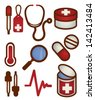 Medical and Health care Icon - Vector File EPS10 - stock vector