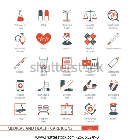 Medical and Health Care Icons Set 03 - stock vector