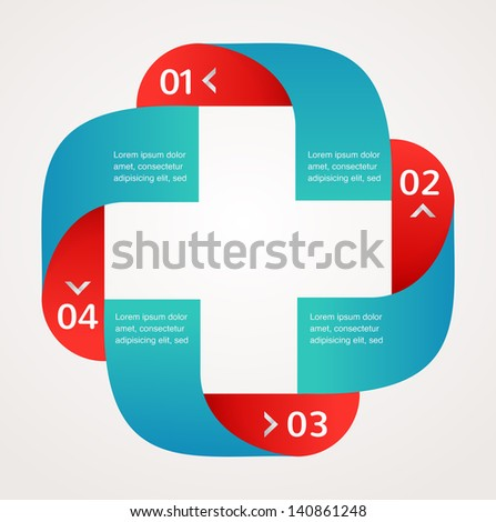 Medical and healthcare icon and background, infographic - stock vector