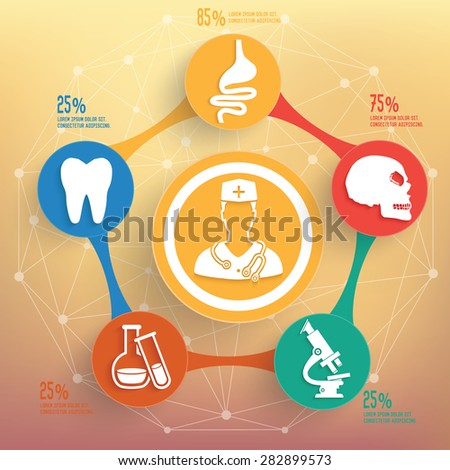 Medical and healthy info graphic design, Business concept design. Clean vector.