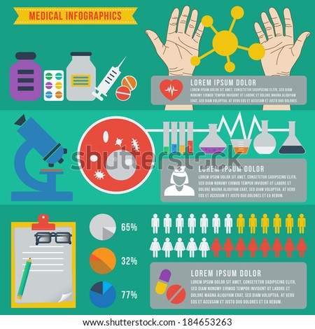 Medical and science infographics, vector format
