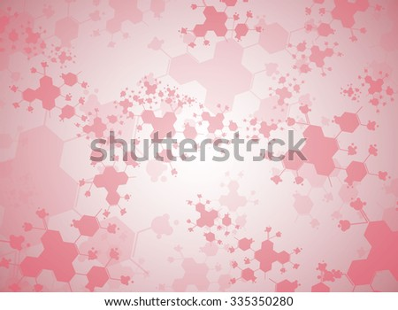 Medical background forms of the molecule. - stock vector