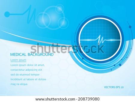 medical background vector - stock vector