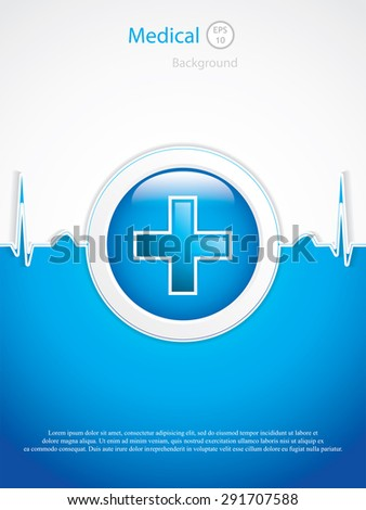 Medical background.Vector - stock vector