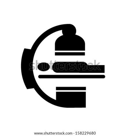 medical body scan vector symbol - stock vector
