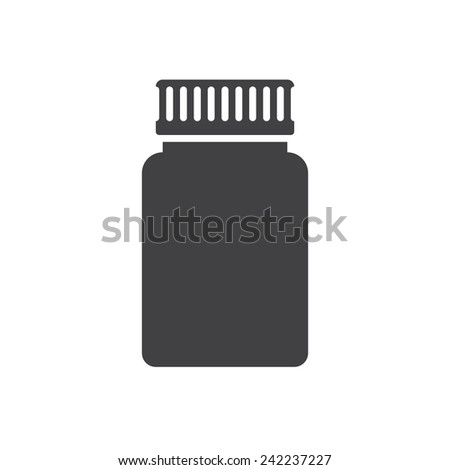 Medical bottle, modern flat icon