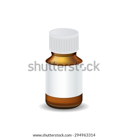 Medical Bottle Template Vector Illustration EPS10 - stock vector