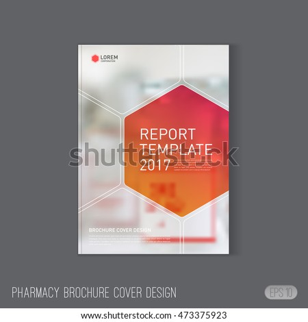 medical brochure cover template layout pharmacy stock vector