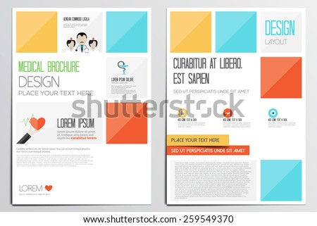 Medical Brochure Design Template. Geometric shapes, Abstract Modern Backgrounds, Infographic Concept.Flat design. Vector - stock vector