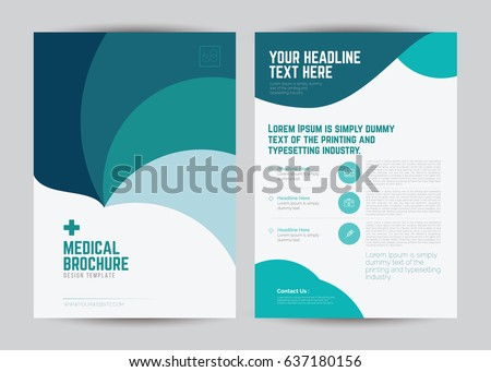 Medical Brochure Flyer Template Design A 4 Stock Vector 637180156