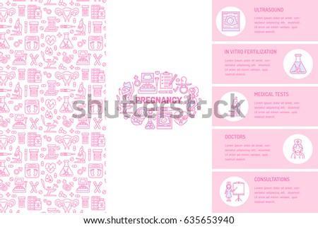 Medical brochure template gynecology flyer vector stock vector medical brochure template gynecology flyer vector trifold pink background obstetrics pregnancy elements toneelgroepblik Images