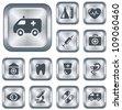 Medical button set - stock vector