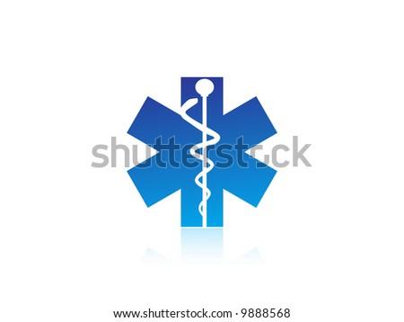 medical caduceus charm sign vector illustration - stock vector