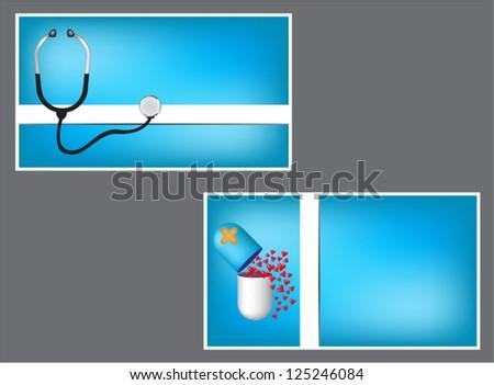 Medical card - stock vector