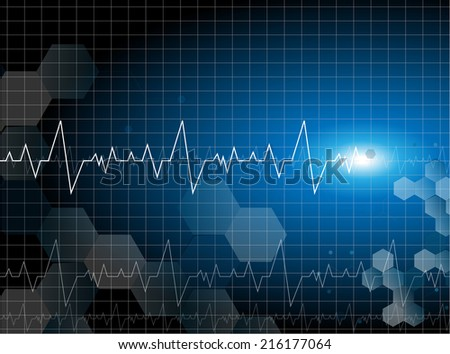 medical cardiac molecular background vector