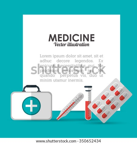 Medical care concept and icons design, vector illustration 10 eps graphic.