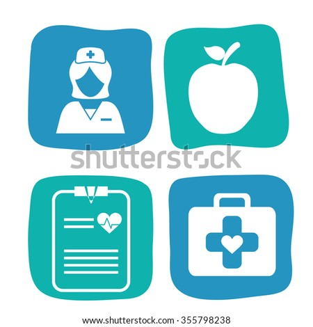 Medical care concept with medicine icons design, vector illustration 10 eps graphic. - stock vector