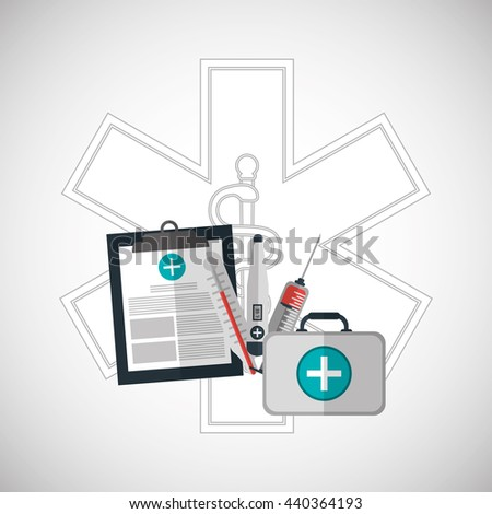 Medical care design. Health care icon. Colorfull illustration