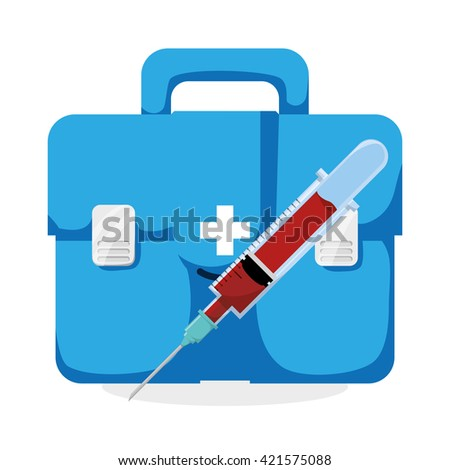 Medical care design. Health care icon. Isolated illustration
