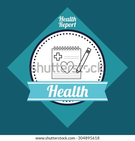 Medical care digital design, vector illustration 10 eps graphic - stock vector