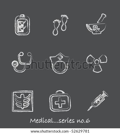 Medical chalkboard icons...series no.6 - stock vector