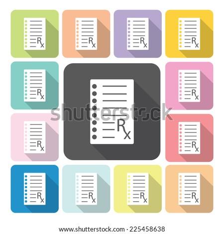 Medical Checklist Icon color set vector illustration. - stock vector