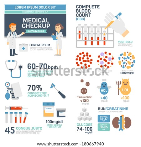 Medical Checkup Infographics - stock vector