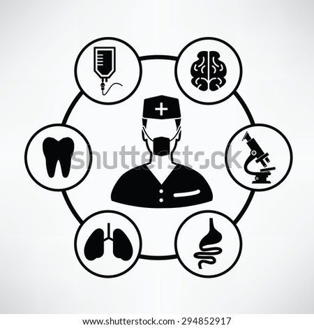 Medical concept,Circle info graphic design,clean vector