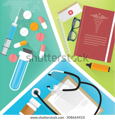 Medical concept design,clean vector - stock vector