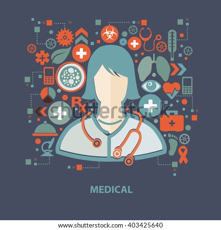 Medical concept design on clean background,vector