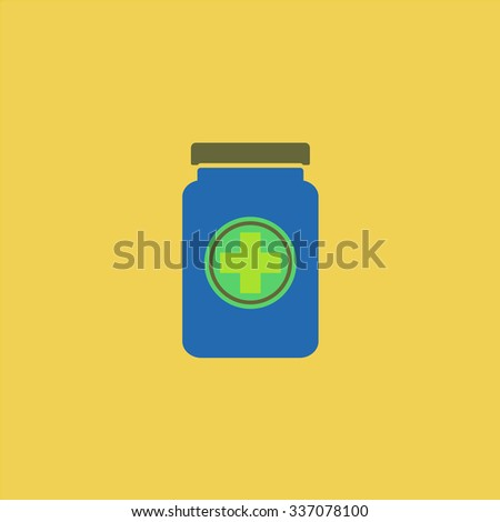 Medical container. Icon Vector.  - stock vector