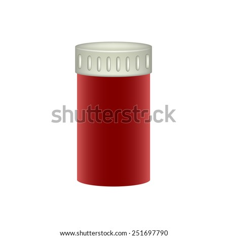 Medical container in red design  - stock vector