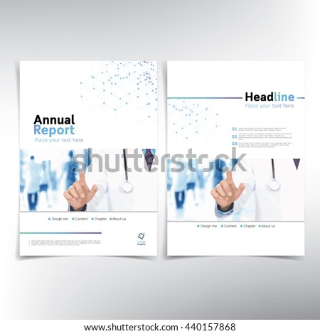 Medical cover page, vector template - can be used for annual report, flyer, brochure  leaflet and more