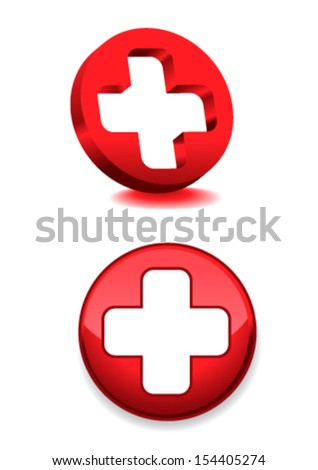 medical cross - stock vector