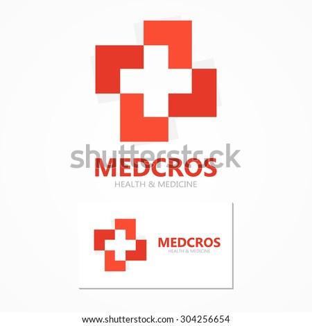 Medical cross logo or icon - stock vector
