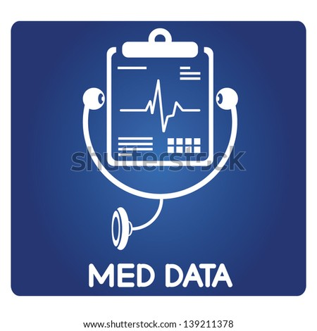 medical data, medical document - stock vector
