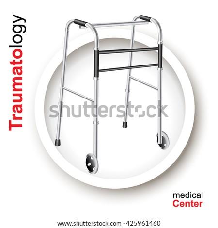 Medical design elements on white background. Vector illustration - stock vector