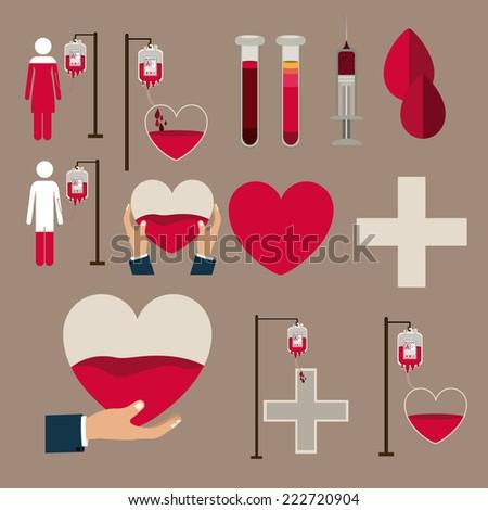 Medical design over brown background, vector illustration  - stock vector
