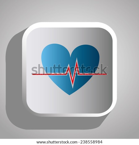 Medical design over gray background, vector illustration.