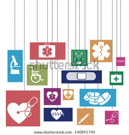 medical design over white background vector illustration - stock vector