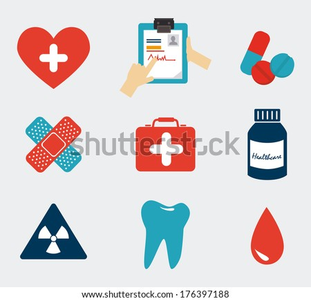 medical design over white  background vector illustration