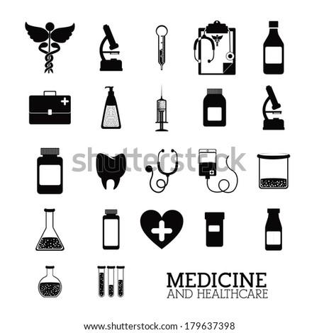 medical design over white background vector illustration   - stock vector