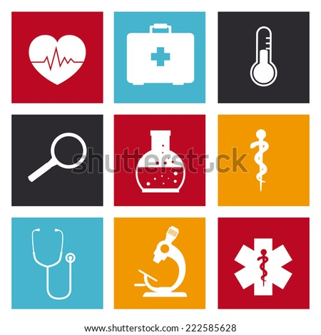 Medical design over white background, vector illustration