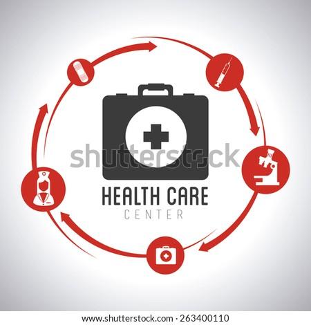 Medical design over white background, vector illustration. - stock vector