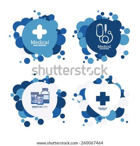 Medical design, vector illustration  - stock vector