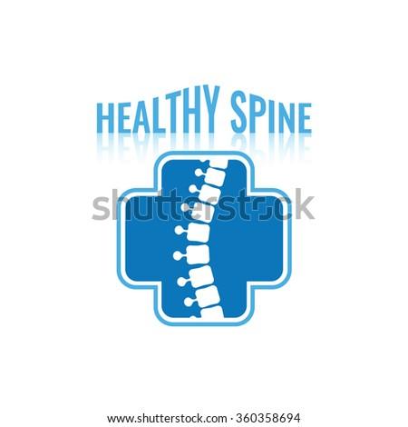 Medical diagnostic spine center vector logo design template. - stock vector