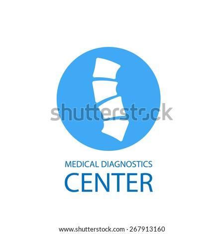 Medical diagnostics center logo, vector illustration - stock vector
