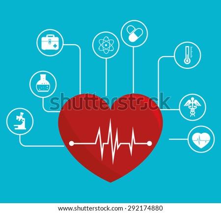 Medical digital design, vector illustration eps 10. - stock vector
