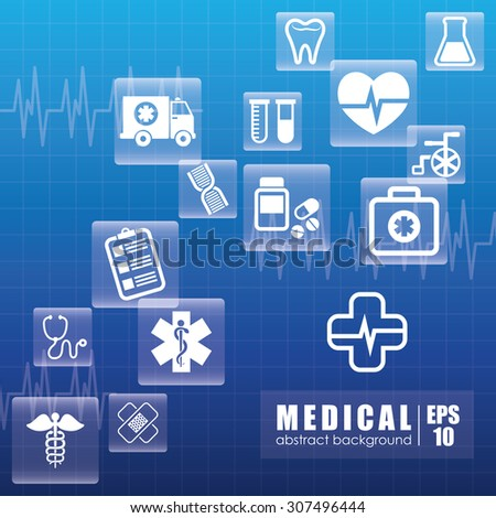 Medical digital design, vector illustration eps 10.
