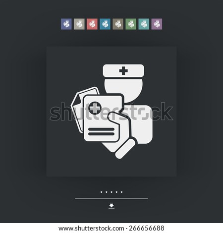 Medical document - stock vector